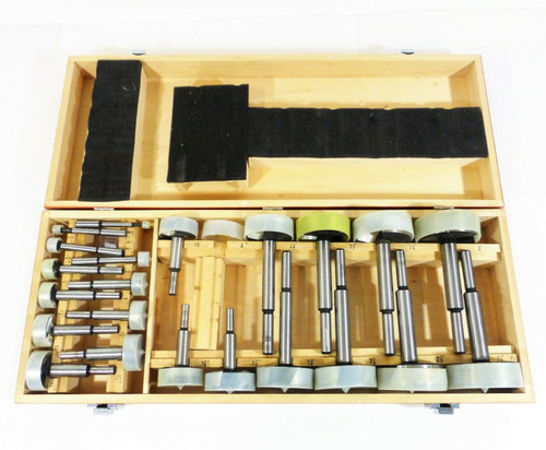22pc. Router Bit Set in Wood Case China - Forstner?