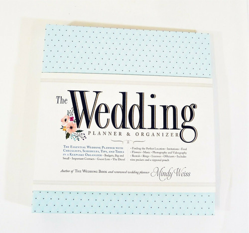 The Wedding Planner and Organizer by Mindy Weiss Hardcover Binder