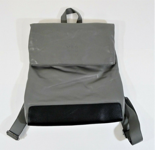 Moleskine Gray Classic Fold Over Polyurethane Backpack
