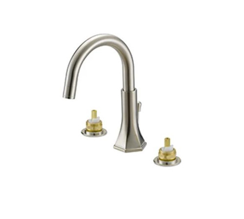 "Luxart Heiress 6-12"" Widespread Lavatory Faucet NO Handles PVD Brushed Nickel"