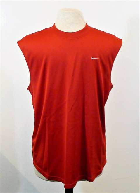 Nike Men's Red Fit Dry Sleeveless Tank Top Shirt Size L - **SEE DESCR