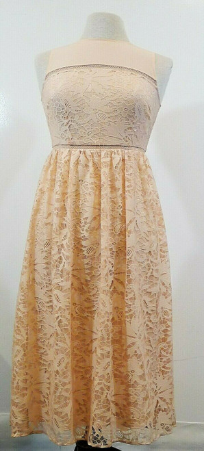 Jessica Simpson Women's Peach Sleeveless Lace Dress Size 2 - NEW WITH TAGS