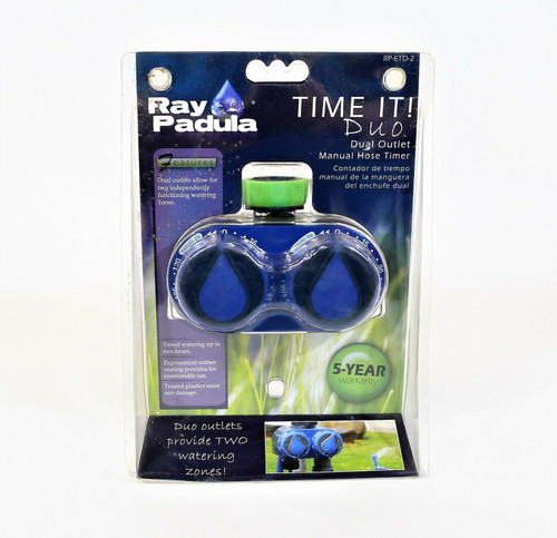 Ray Padula Time It! Duo Mechanical Sprinkler Timer - NEW IN PACKAGE
