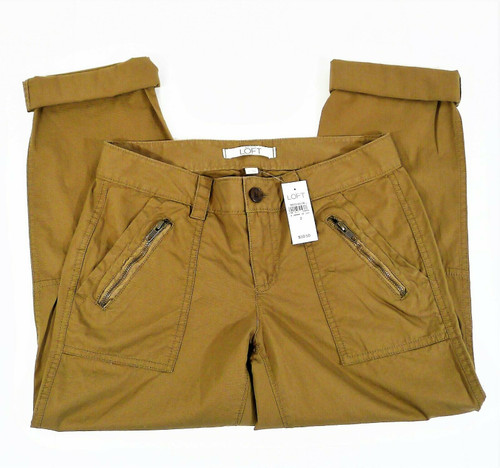 Ann Taylor Loft Brown Cargo Capri Pants Size 2 - NEW WITH TAGS