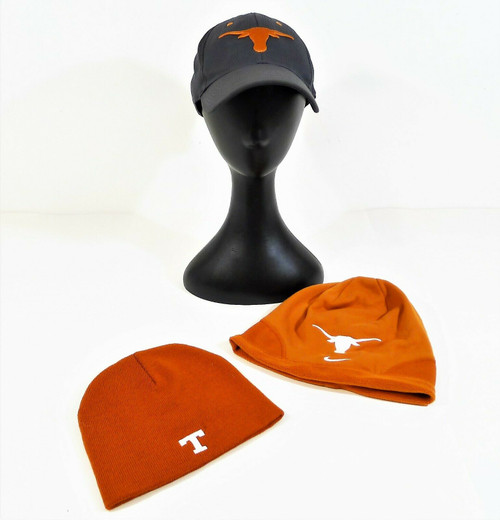 Set of 3 Texas Longhorn Hats- Nike Cap, Nike Beanie, Captivating Headgear Beanie