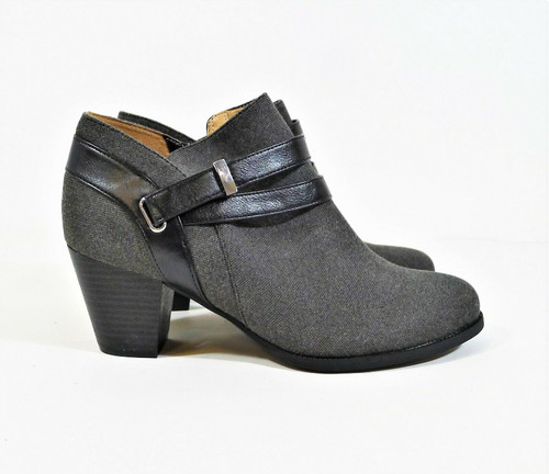Abella Gray True Comfort Mattie Ankle Boots Buckle Side Zip Size 9.5 M