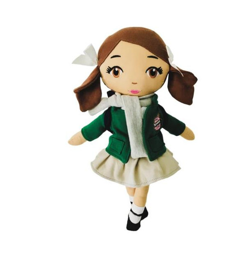 My School Doll Brown Eyed with Brown Hair Lily Doll - NEW IN PACKAGE