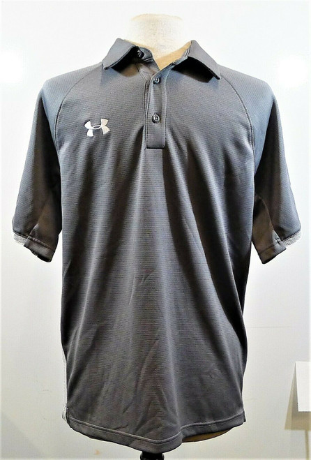 Under Armour Men's Gray Loose Fit HeatGear Polo Shirt Size M