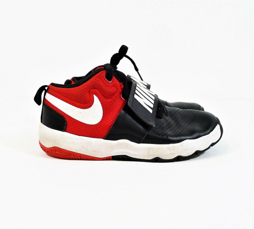 Nike Kids' Black/White/Red Team Hustle  Basketball Shoes Size 2 Y - *SEE DESCR