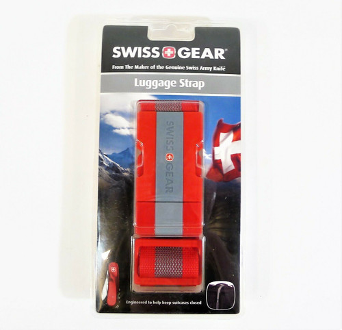 """Swiss Gear Red Luggage Strap Fits bags up to 72"""" - NEW"""