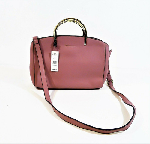 BCBGeneration Rose Colored Elyse Satchel Shoulder Purse - NEW WITH DEFECTS