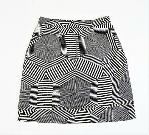 Anthropolgie HD in Paris Black/White Abstract Mini Skirt Size XS - NEW WITH TAG