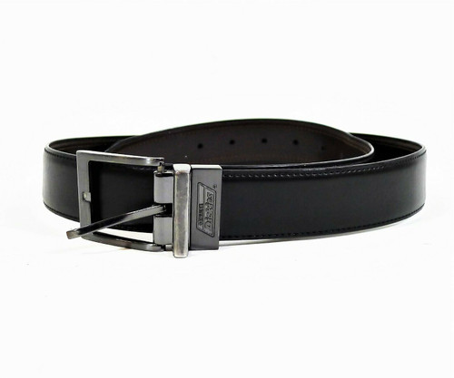 Dickies Men's Black/Brown Genuine Leather Reversible Belt Size 36