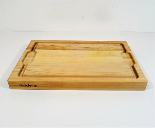 """Made in Cookware The Butcher Block Maple Wood Cutting Board 12"""" x 18"""" SEE DESCR"""