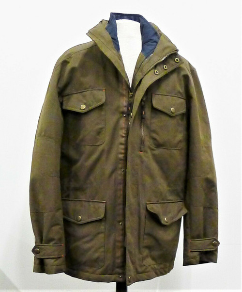 London Fog Men's Green Functional Outdoor Gear Jacket w/ Removable Liner Size M