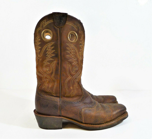 Ariat Men's Brown Leather Heritage Roughstock Western Boot Size 10.5 EE