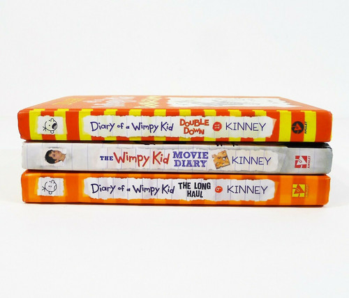Set of 3 Diary of a Wimpy Kid Hardback Books - Double Down, Movie Diary and More