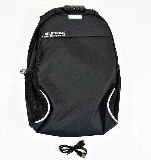 Meilirensheng Black Backpack A Great Bag A Great Me - NEW IN PACKAGE