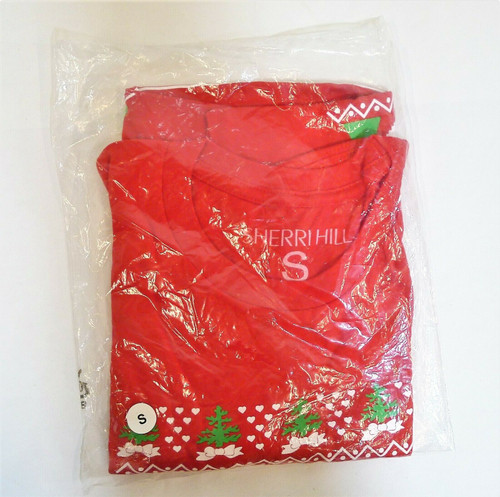"Sherri Hill Women's Red ""All I Want for Christmas"" Shirt Size S - NEW IN PACKAGE"
