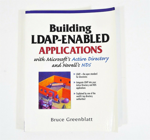 Building LDAP-Enabled Applications w/ Microsoft Active Directory Paperback Book