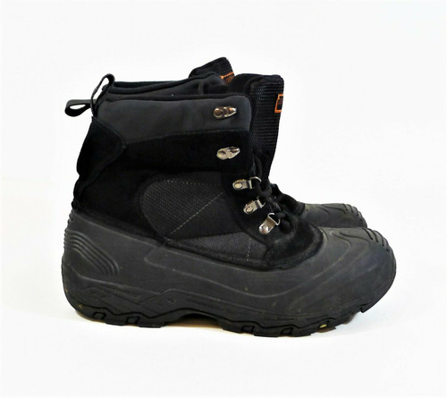 London Fog Men's Black Woodside Thinsulate Hiking Snow Winter Boots Size 10 M
