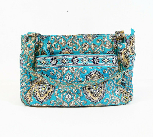 Vera Bradley Totally Turquoise Print Shoulder Bag Purse