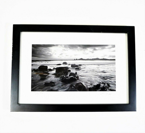 "Bruce Herman Photography Monuments Low Tide Signed Framed Print 13"" x 9"""