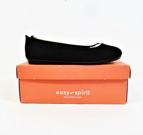 Easy Spirit Women's Black Leather Get City 2 Slip On Casual Flats Shoes Size 7 W