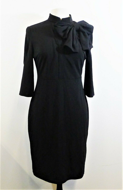 Zalalus Women's Black 3/4 Sleeved Large Bow Dress Size L - NEW WITH TAGS
