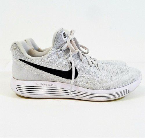 Nike Women's Light Gray LunarEpic Low Flyknit Running Shoes Size 10