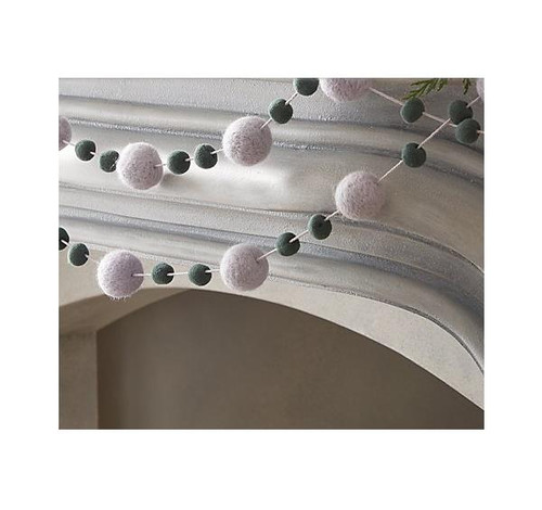 """CB2 Lilac and Teal Felt Garland 108"""" - NEW IN BOX"""