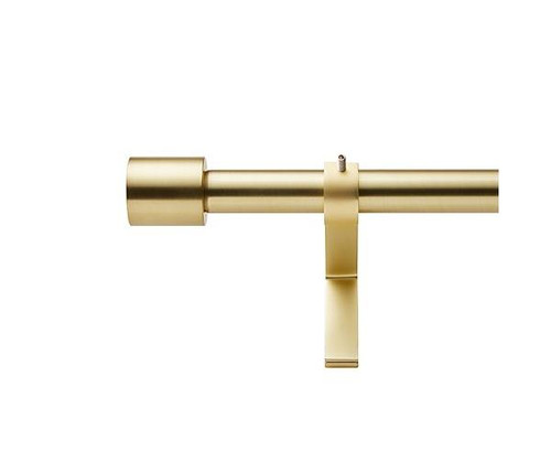 """CB2 Finial 1.25"""" Curtain Rod Caps (2) in Brushed Brass - **CAPS ONLY"""