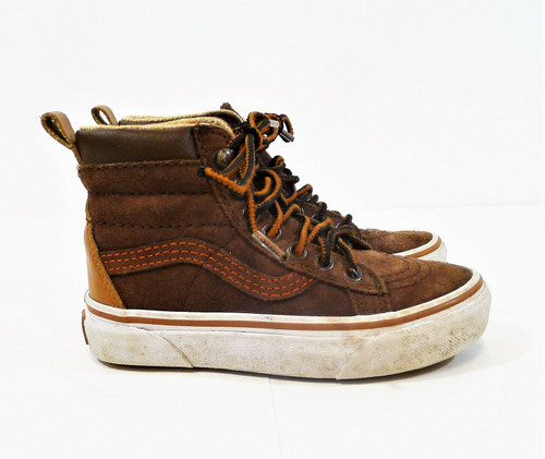 Vans Boy's Potting Soil Brown SK8-HI MTE Suede Shoes Size 11