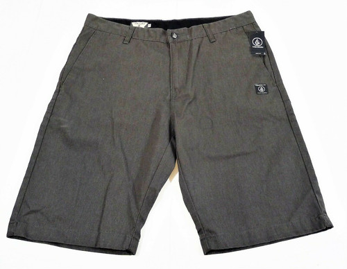 Volcom Men's Gray Vmonty Flat Casual Chino Shorts Mens 34 - NEW WITH TAGS