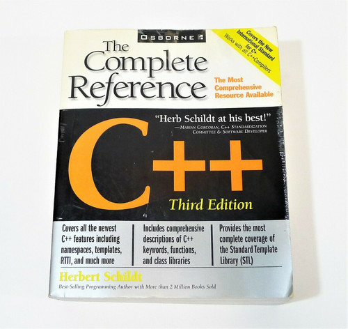 C++ The Complete Reference Third Edition Paperback Book by Herbert Schildt