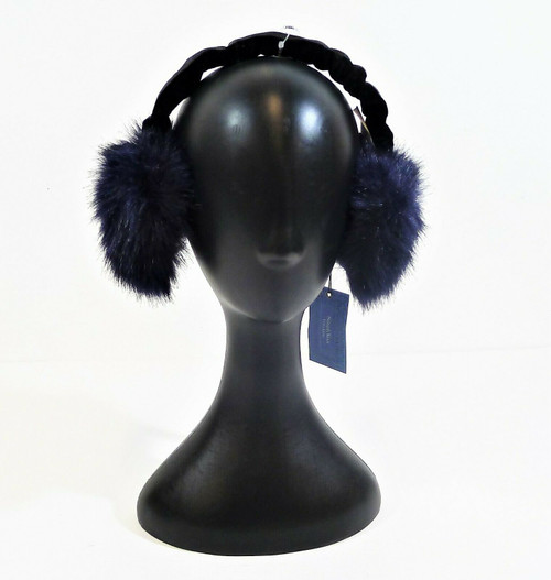 Simply Vera Wang Blue Faux Fur Ear Muffs One Size - NEW WITH TAGS