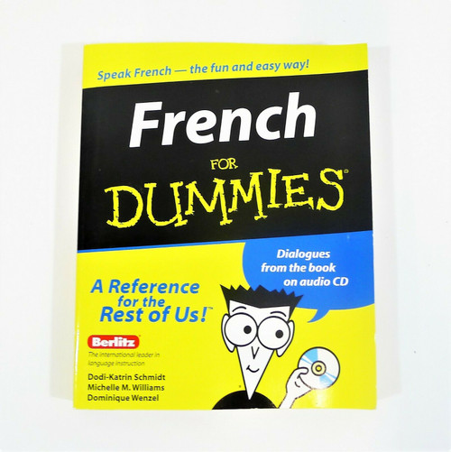 French for Dummies Paperback Book with Audio CD
