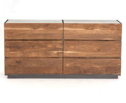 Four Hands Holland Large 6-Drawer Dresser in Dark Smoked Oak *Tops Not Included - LOCAL PICKUP ONLY
