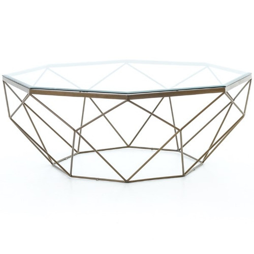 Four Hands Marlow Geometric Coffee Table Base in Antique Brass *Base Only - LOCAL PICKUP ONLY