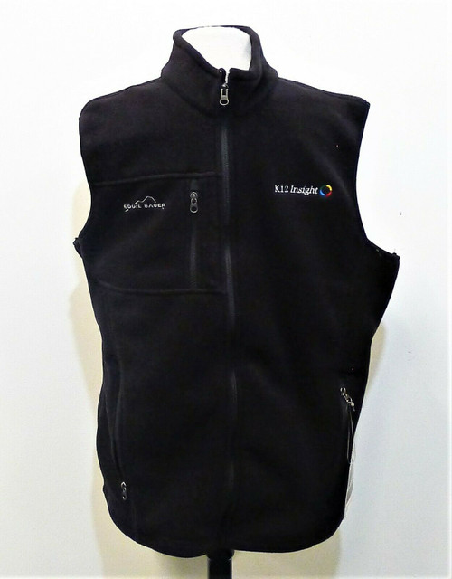 Eddie Bauer Men's Black K12 Insight Full-Zip Fleece Vest Size XL