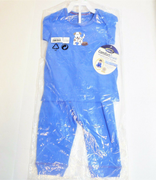 Halo Infant Boy's Blue Dog Comfort Luxe Sleepwear Size 18 Months - NEW W/ TAGS