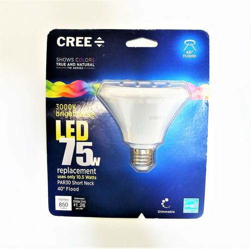 Cree LED Lamp 75 Watt PAR30 Short Neck 3000K Bright White 40 Degree Flood - NEW