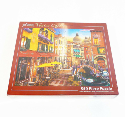 Vermont Christmas Company Venice Cafe 550 Piece Jigsaw Puzzle - NEW AND SEALED