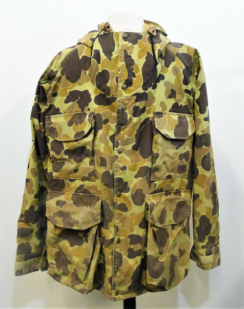 Cabela's Men's Camouflage Duck Camo Gore-Tex Hooded Jacket Size M - *SEE DESCR