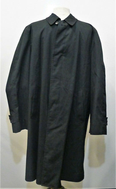 London Fog Men's Dark Green Trench Coat Long Raincoat Overcoat Size 42 Regular