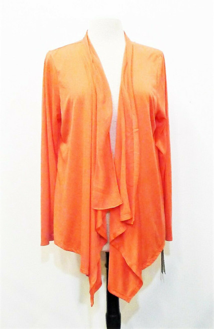 Dana Buchman Women's Candy Coral Tropical Beat Open-Front Cardigan Size XL - NEW