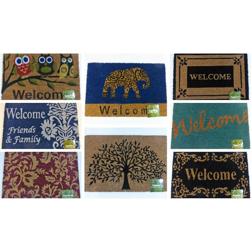 "Nature's All Natural Coir Mat Door Mat 18"" x 27"""