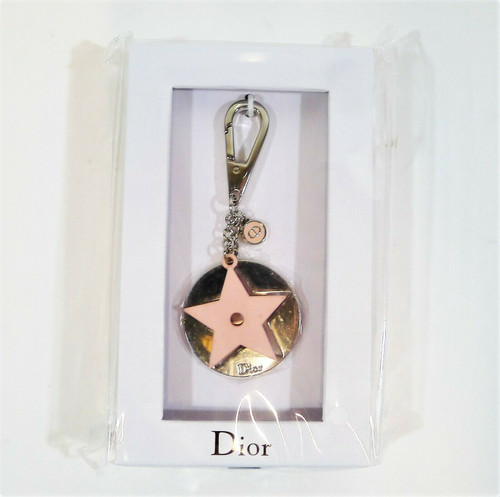 Dior Pink Star Charm Key Chain - NEW IN BOX