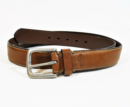 Fossil Men's Brown Leather Belt Size 38