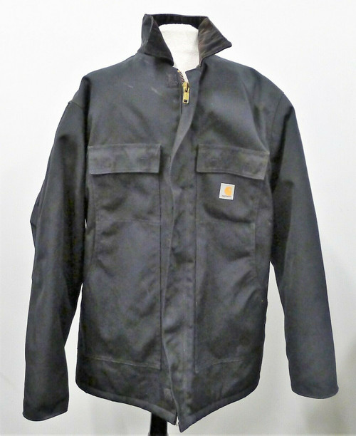 Carhartt Men's Black Full Zip Jacket Coat Size L Tall - **DIRT/STAINS?